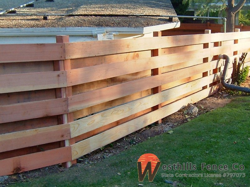 how to build a horizontal paling fence on a slope